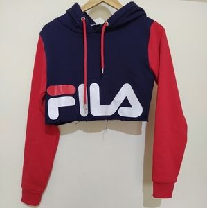 Fila size S crop jumper hoodie sweater pullover